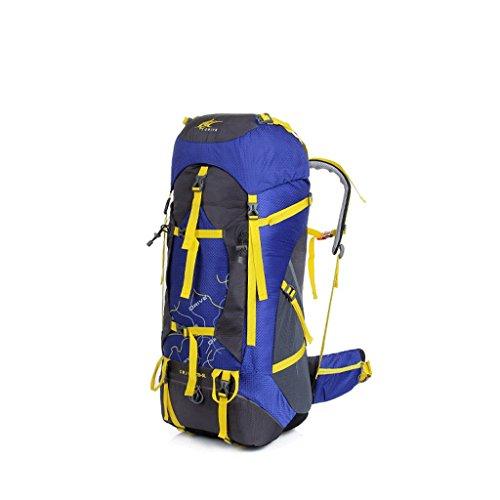 Il nuovo sacchetto di alpinismo di grande capacità zaino impermeabile maschi signora sport all'aria aperta sacchetti di alpinismo di viaggio all'aperto blu