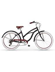 MBM HONOLULU WOMAN MUJER CRUISER CUSTOM 26'' BICYCLE BIKE BICICLETA 6S NEGRO