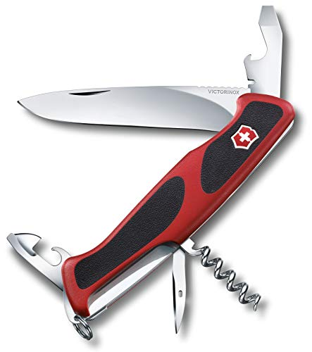 Victorinox Taschenmesser Ranger Grip 68 (11 Funktionen, Feststellklinge) rot/schwarz -