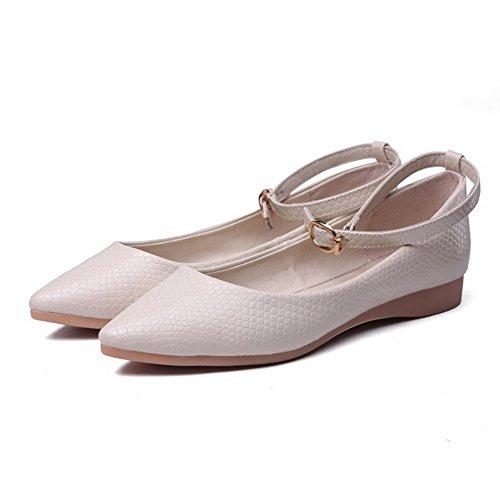 Baixo Damasco Fivela Bombas Apontou Voguezone009 Sapatos Toe De Senhoras Salto De Puros Cor fBZxn7TX