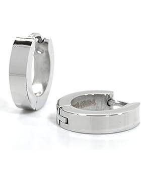 Basic Silber Ohrringe ECR02 Herren Creolen Edelstahl
