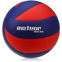 meteor Balón de Voleibol Tamaño Volleyball Interior Exterior (5, Chili R&B)