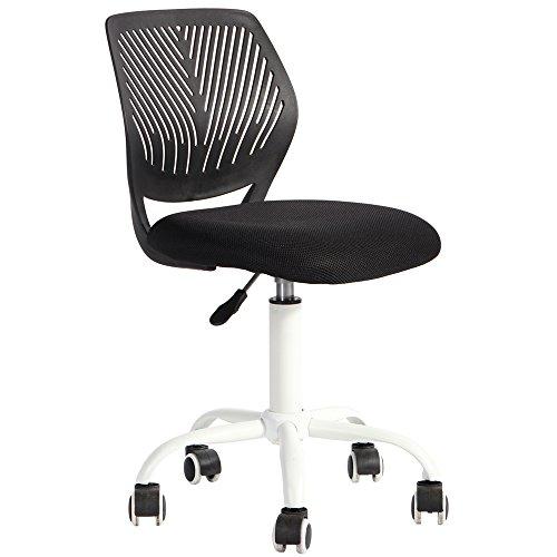 Fanilife sedia da ufficio design regolabile per bambini computer sedia scrivania sedia operativa girevole senza braccioli sedia da studio per bambini base bianca