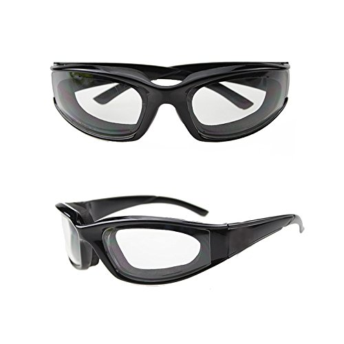 ele ELEOPTION Zwiebel Schutzbrille dauerhafte Winddichte staubdicht Zwiebel-Brille Augen Protector (Schwarz)