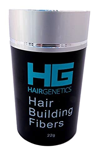 Hair Genetics® Advanced Keratin Hair Building Fibres Large 22g Dispenser, Natural, Thick & Textured, Amazing New Concept to Save Money, Professional Quality Fiber, Hair Loss Concealer Fibers For use by Men and Women. (Medium Brown)