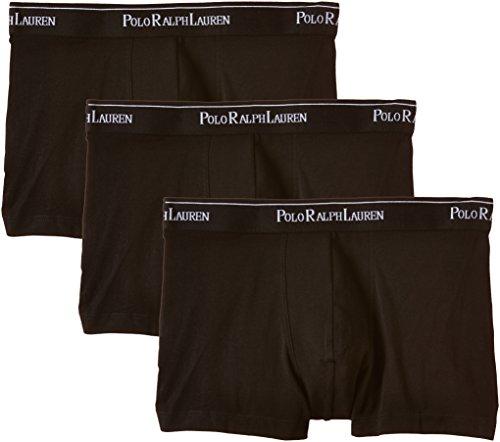 Polo Ralph Lauren 3 Packs Pouch Trunks Short, Schwarz (3Pk Polo Blk 002), Medium (Lot de 3 Homme