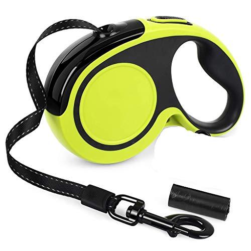 Einziehbare Hundeleine Heavy Duty Leine 360   ° Tangle-Free Brems Lock System Erweiterbar Pet Leads for Trainings-Walking Laufen Jogging Und Andere Outdoor-Aktivitäten (Size : L(25-50kg)) -
