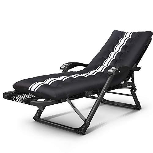 LCTCDD Gepolsterte Schwerelosigkeit Lounge Chair Patio Faltbare verstellbare Liegehalter für Outdoor-Hof Veranda, Stuhl mit Lordosenstütze Kissen Unterstützung £ 450 (Color : B) (Türkis Patio-stuhl-kissen)