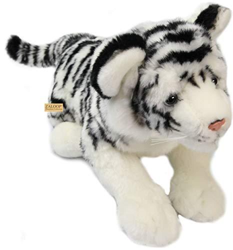 Tigerbaby Tiger weiß ca. 47 cm Plüschtier Kuscheltier Stofftier Plüschtiger 148 von Zaloop®