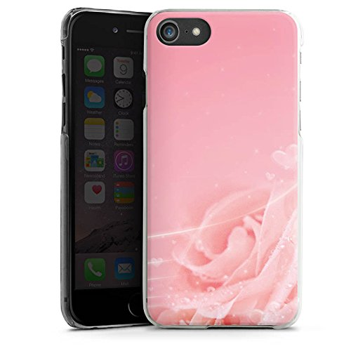 Apple iPhone X Silikon Hülle Case Schutzhülle Rose Blumen Pink Hard Case transparent
