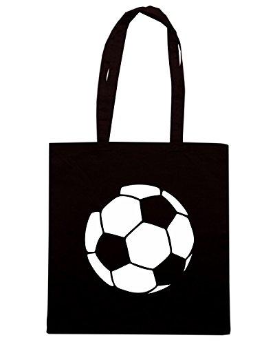 T-Shirtshock - Borsa Shopping OLDENG00500 fun soccer ball Nero
