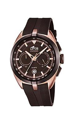 Lotus Reloj de hombre de cuarzo con Esfera Marrón Cronógrafo y Correa de Goma Marrón 18190/1 de Lotus