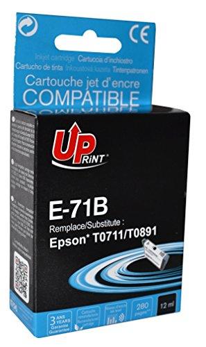 Cartouche compatible EPSON T0711/ T0891 - Noir - marque : UPrint E-71B - Imprimantes : STYLUS D120 / STYLUS D78 / STYLUS D92 / STYLUS DX4000 / STYLUS DX4050 / STYLUS DX4400 / STYLUS DX4450 / STYLUS DX5000 / STYLUS DX5050 / STYLUS DX6000 / STYLUS DX6050 / STYLUS DX7000F / STYLUS DX7400 / STYLUS DX7450 / STYLUS DX8400 / STYLUS DX8450 / STYLUS