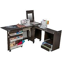 Comfort 3 | Muebles para máquinas de coser y overlock | (Oak Kendal Cognac,