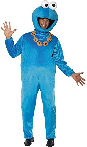 Adults Fancy Dress Sesame Street Cookie Monster Costume Medium