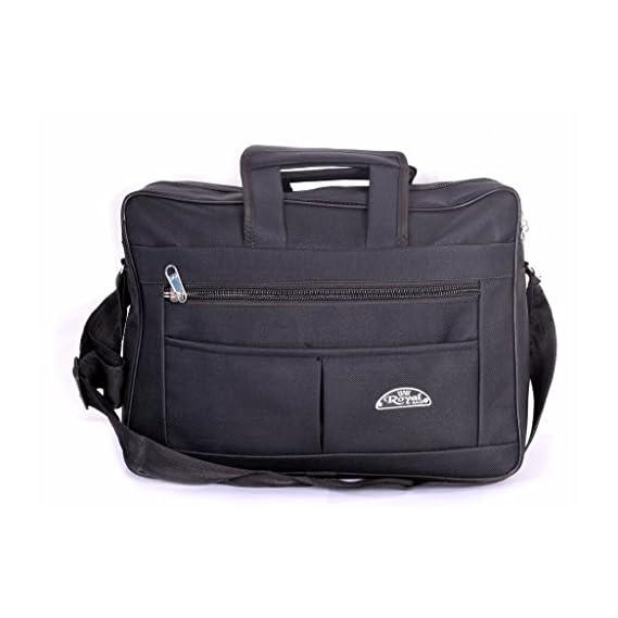 Kart Trade Men and Women Royal Polyester Laptop Messenger Bag (Black)
