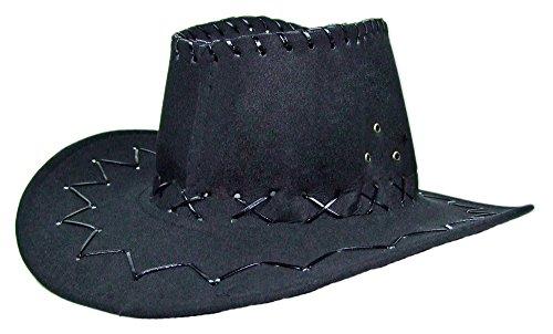 Cowboy Kostüm Kleinkind Kinder - Das Kostümland Kinder Cowboyhut mit Ziernähten - Schwarz