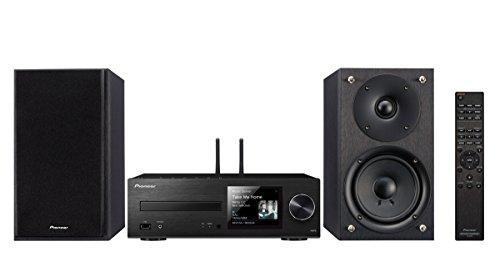 Pioneer X-HM76(B) Micro Hifi Anlage, für CD, MP3 Wiedergabe (WLAN, Bluetooth, Streaming, Musik Apps, Spotify, Tidal, Deezer, Multiroom, Front USB/Audio in, 50 W/Kanal), Schwarz