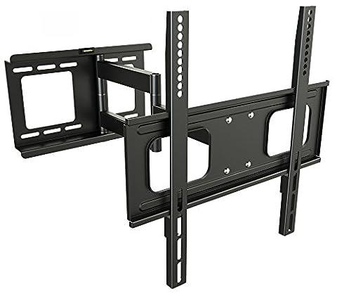 RICOO Wandhalterung TV Schwenkbar Neigbar S2544 Universal LCD Wandhalter Ausziehbar Fernseher Halterung Curved 4K OLED LED Flachbildfernseher 80-165 cm/ 32