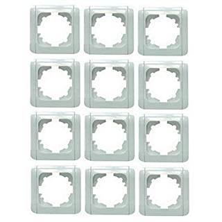 12 Stück (!!) Abdeckrahmen 1-fach weiß mit Clips VIKO für EGB-Elegant Schalter und Steckdosen 080200x12 Profi-Pack
