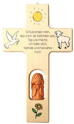 Neumeyer N414 Kinderkreuz, Holz, 20 x 12 x 2,5 cm, natur