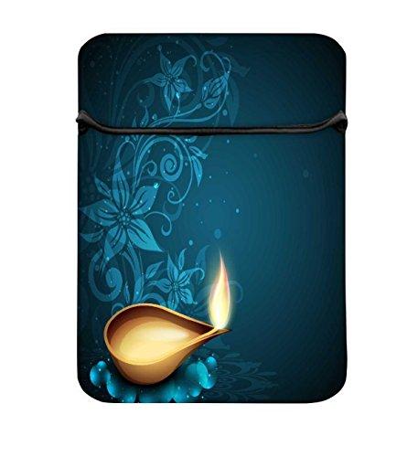 Snoogg Grußkarte für Diwali Celebration in Indien 25,4cm einfachen Zugang Gepolstertes Laptop...
