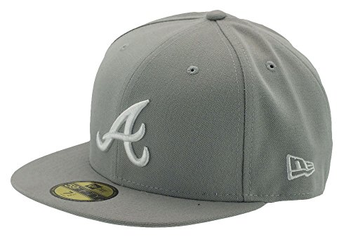 ERA BASECAP - MLB BASIC - GREY / WHITE (Atlanta Braves Hüte)