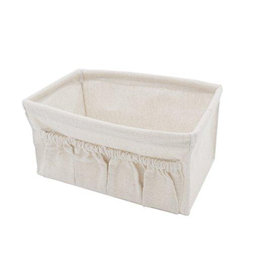 Anzirose piccolo cestino cubo contenitori di stoccaggio in cotone e biancheria cestino portaoggetti organizer per prodotto del bambino trucco