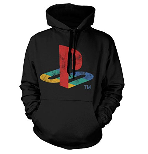 officially-licensed-merchandise-playstation-distressed-logo-hoodie-black-medium