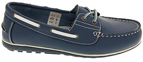 Shoreside Oxford Femmes Chaussures Bateau En Cuir Bleu - Jean