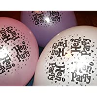 8 HEN PARTY BALLOONS (3 Different colours in pack - Pink, White and Purple)