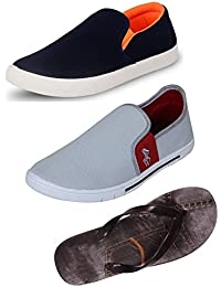 Maddy Perfect Combo Pack Of 2 Slip On Shoes & Slippers For Men In Various Sizes