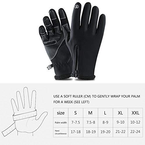 Umiwe Touchscreen Handschuhe, Winter-Handschuhe für Frauen Männer Wasserdicht und Winddicht Thermo-Handschuhe Liner Designed für Laufen, Radfahren, Fahren & Winter Outdoor Sports