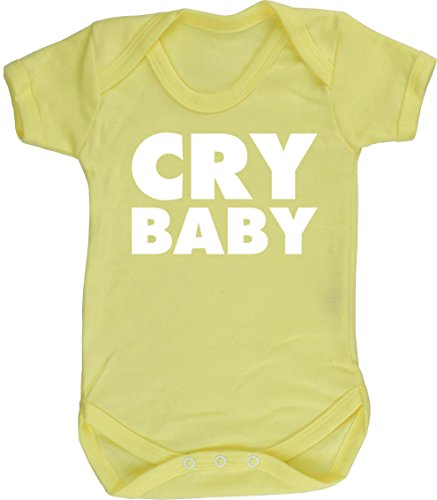 Hippowarehouse Cry Baby baby vest bodysuit (short sleeve) boys girls