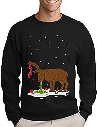 Green Turtle T-Shirts Witziges Ugly Sweater Geschenk Verkatertes Rentier Sweatshirt