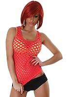 B&X Damen Netz-Top einfarbig & ärmellos mit Löchern