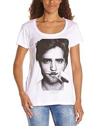 Eleven Paris - Camiseta de manga corta con cuello pico para mujer