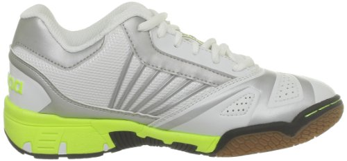 Kempa Tornado Women, Chaussures de handball femme Blanc - Weiß (weiß/silber/fluorgelb weiß/silber/fluorgelb)