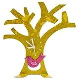 Oxidos Standuhr Baum mit Vogel grün Fair Trade