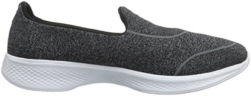 Skechers Damen Gowalk 4-Super Sock 4 Sneakers Black/White