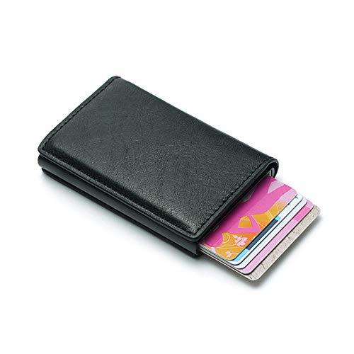 GWXHG Damen-Geldbörsen Diebstahlsicherung Männer Kreditkarteninhaber Brieftasche Leder Unisex Sicherheit Brieftasche Leder Frauen Magie Brieftasche (Magie Brieftasche)