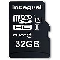 Integral INMSDH32G10-ACTION Ultra High Speed UHS-I U3 32 GB MicroSDHC Speicherkarte für die 4K-Aufnahme mit Action-Camcorder 32 GB/Pack of 2