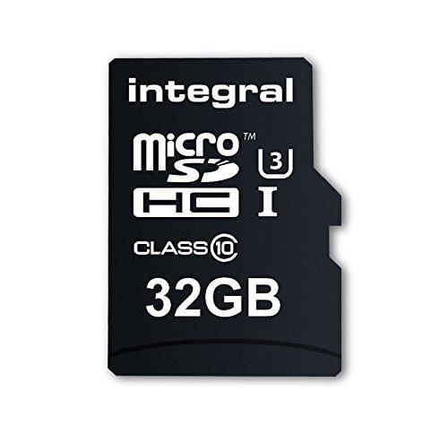 Integral INMSDH32G10-ACTION Ultra High Speed UHS-I U3 32 GB MicroSDHC Speicherkarte für die 4K-Aufnahme mit Action-Camcorder 32 GB/Pack of 2 Digital Camcorder Case