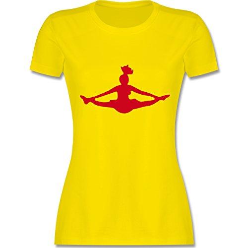 Tanzsport - Cheerleading - tailliertes Premium T-Shirt mit Rundhalsausschnitt für Damen Lemon Gelb