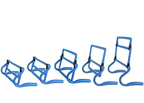tooge Verstellbare Höhe Geschwindigkeit Training Agility Hürden, Set von 5 Blau blau (Training Hürden)