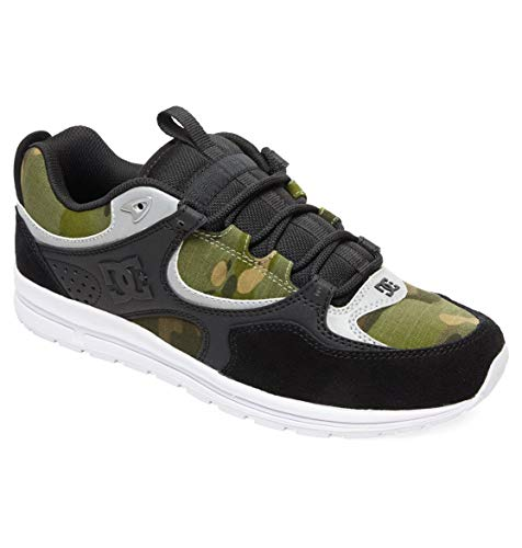 Camo Leder Skate Schuhe (DC Shoes Herren Kalis Lite Se-Shoes for Men Skateboardschuhe, Black/camo Print, 42 EU)