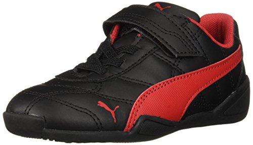 PUMA Baby Tune Cat 3 Velcro Sneaker Black-Ribbon red  10 M US Toddler