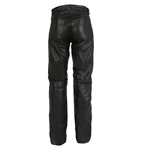 Texpeed - Herren Motorradhose im Stile einer Lederhose - schwarz - Größe W36 / 91,5cm