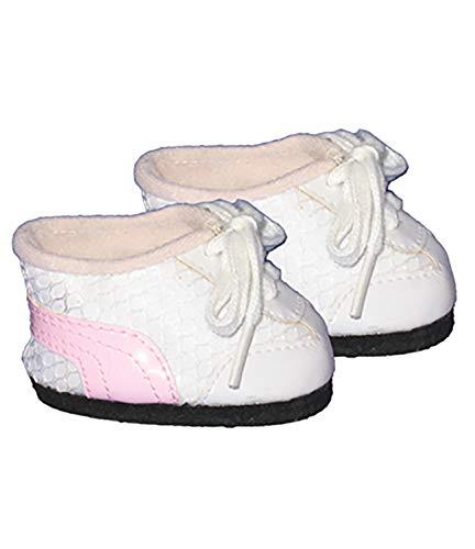 Stuffems Toy Shop Bianco / Rosa Scarpe da Tennis Vestiti Adatta alla Maggior Parte 12' Snuggl'ems, 8' - 10' Animale farcito Kit e più Webkinz & Shining Star