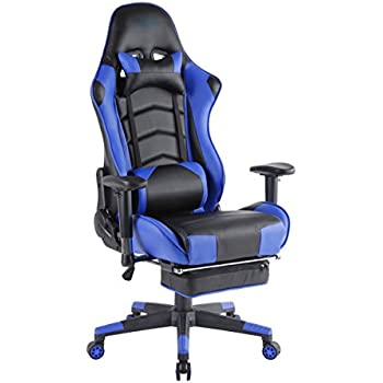 top gamer ergonomische fu st tze computer gaming hohe r ckenlehne drehstuhl b ro stuhl mit. Black Bedroom Furniture Sets. Home Design Ideas